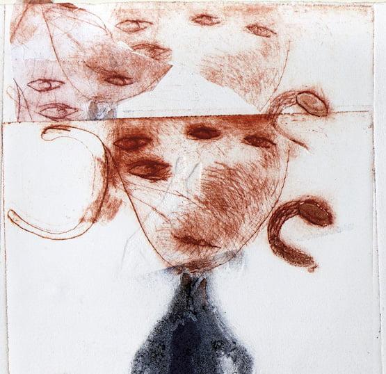 gravure au Carborundum, pointe sèche, Magda Moraczewska