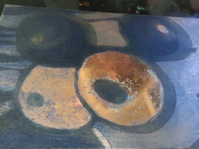 gravure sur cuivre, plaque, aquatinte