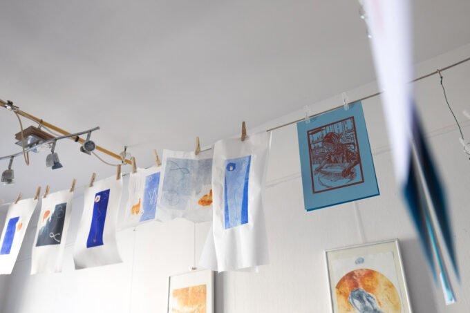 gravure, monotype, linogravure