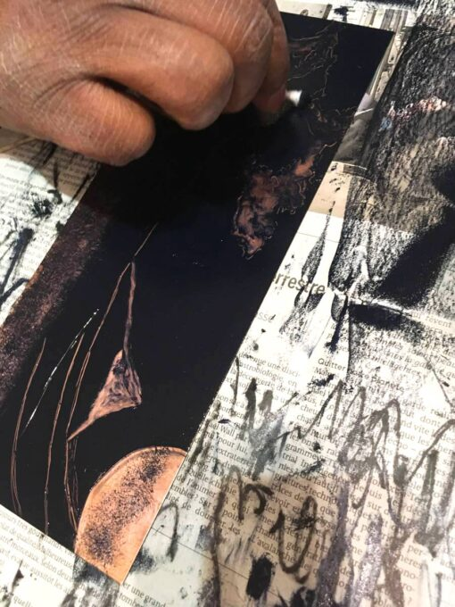 gravure, monotype - Olivier Kotor