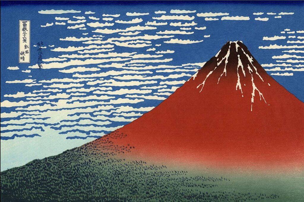 Hokusaï 3§  vues du Mont Fuji