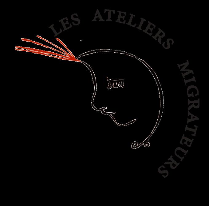 logo lune ateliers-migrateurs et typo
