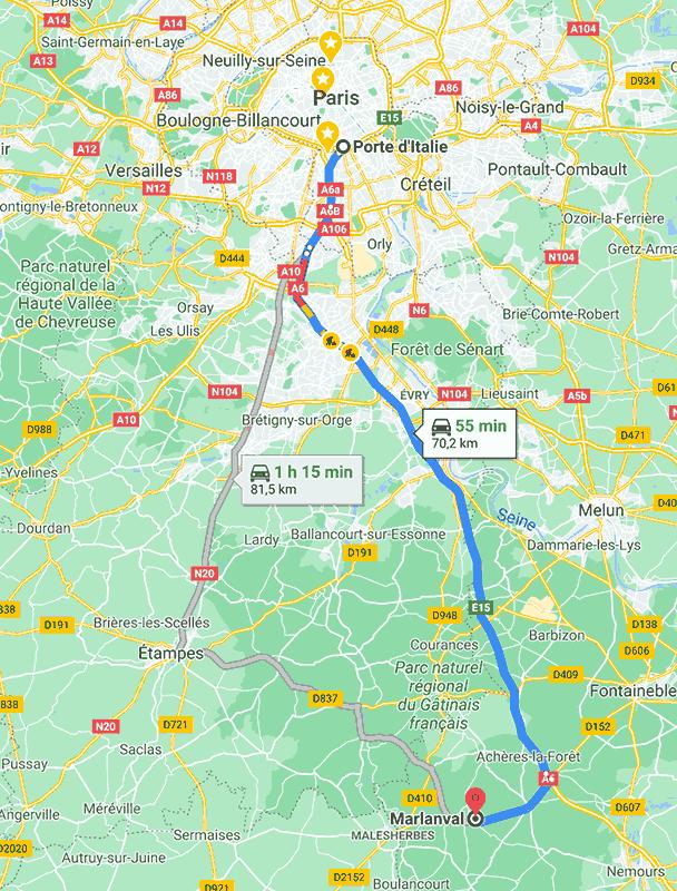 Printemps 2021  près de Fontainebleau
