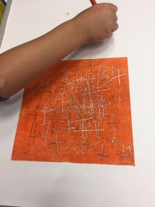 gravure, atelier enfants