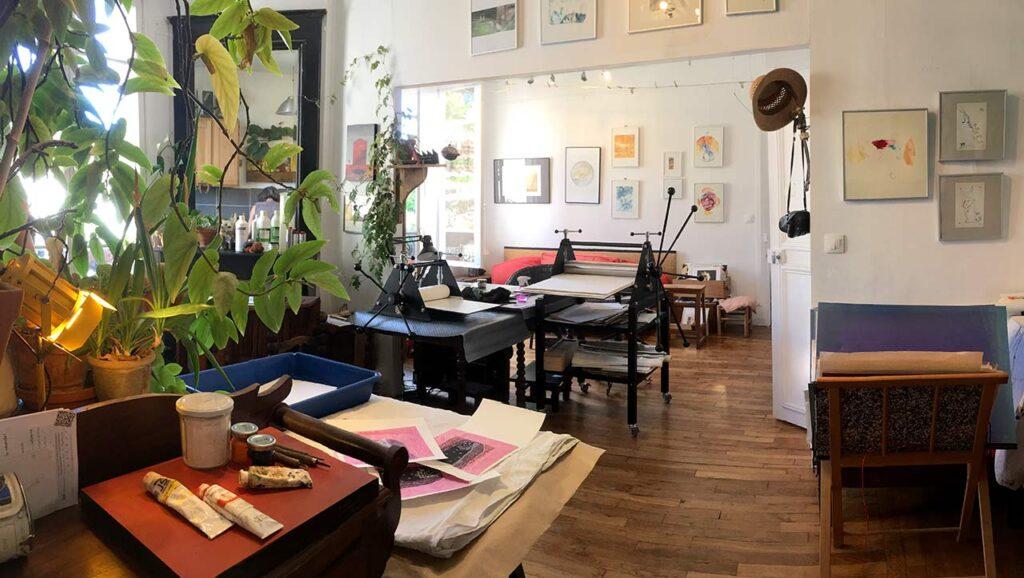 L'atelier parisien  des ateliers de gravure migrateurs