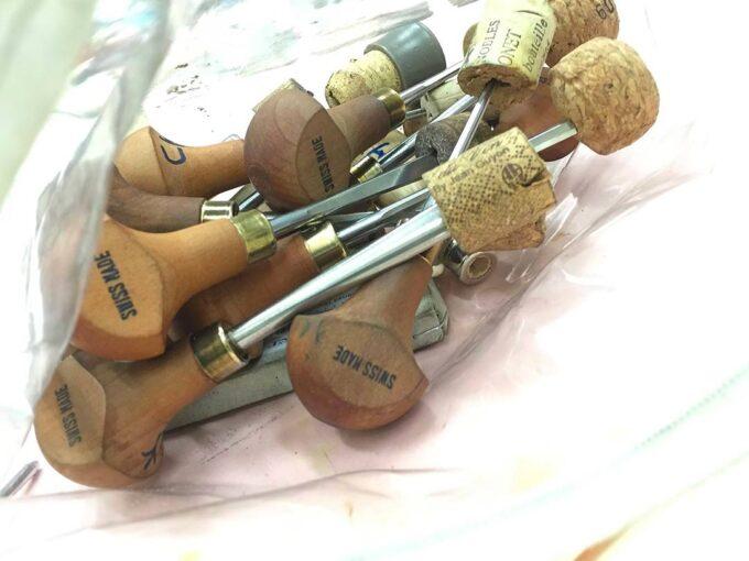 les outils de gravure: gouges pour bois et lino