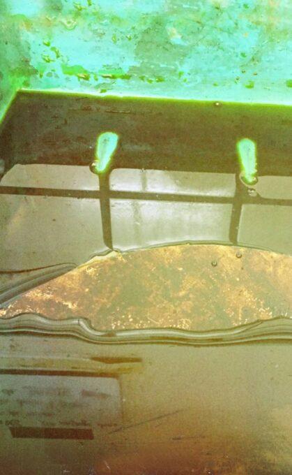 gravure, perchlorure de fer, cuivre