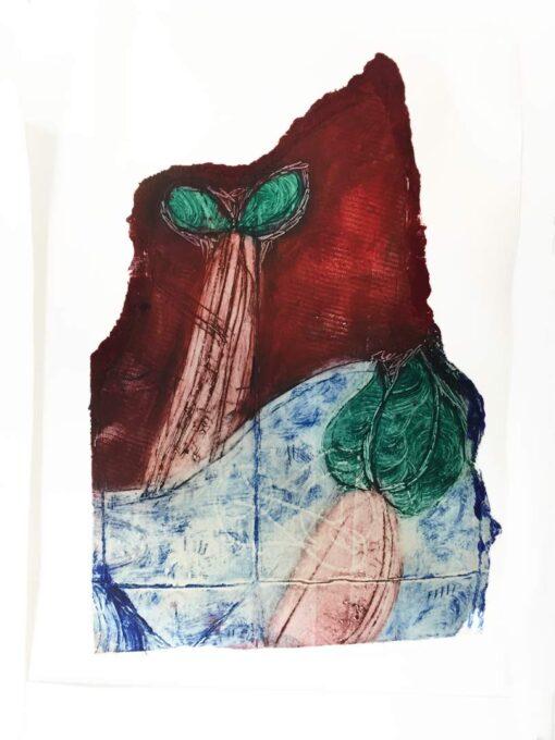 gravure non-toxique - tétrapack cours de Magda Moraczewska