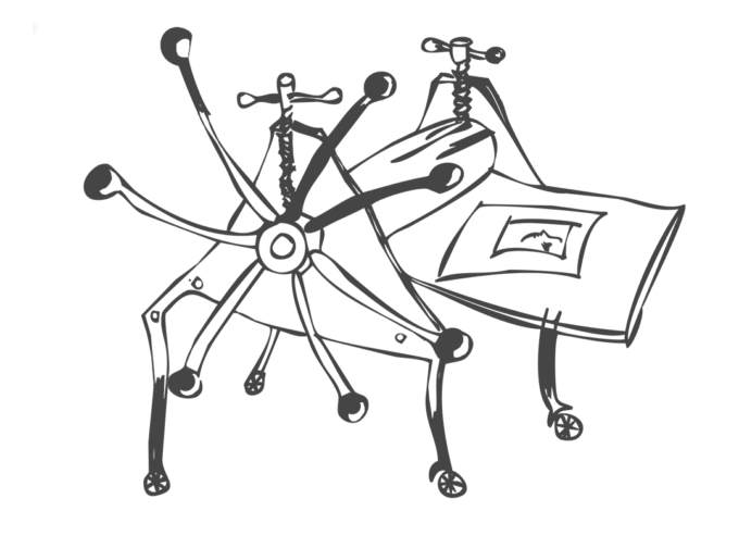 La presse des ateliers migrateurs dessin de Magda Moraczewska